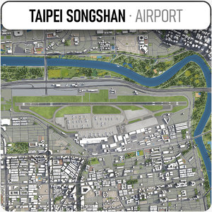taipei songshan airport - 3D model