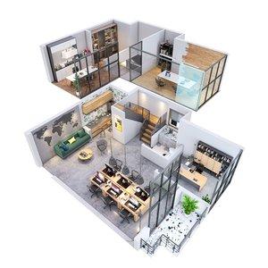 3D duplex apartment model