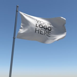 3D flag looped animation