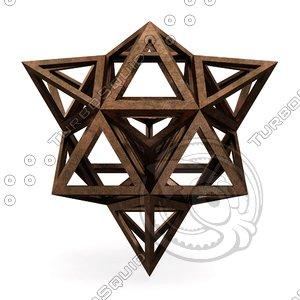 3D hexaedron apotetmimenon epirmenon model