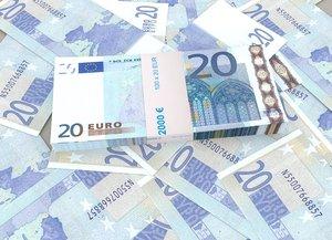20 euro banknote packs 3D model