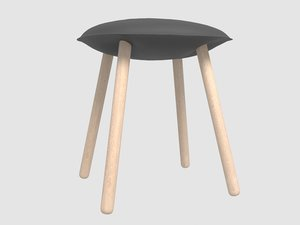 3D model bloated stool damien genay
