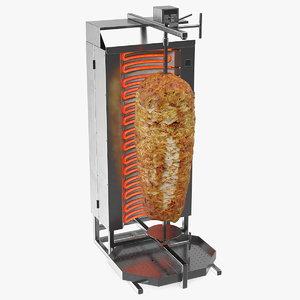 vertical rotisserie grill doner model