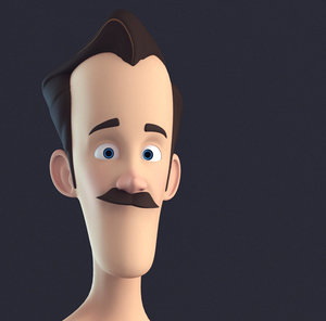 character cartoon stylised 3D model