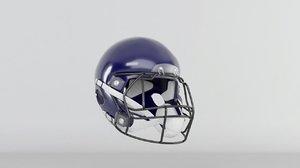 3D football helmet american model