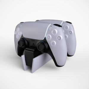 3D realistic sony playstation charger model