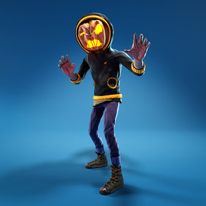 halloween character pumpkin 3D model