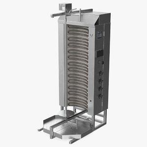3D model potis vertical rotisserie grill