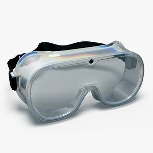 medical goggles 3D model