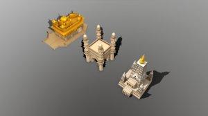 3D model indian monuments