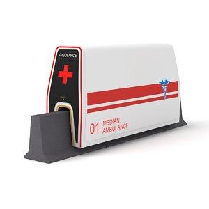 3D median ambulance model