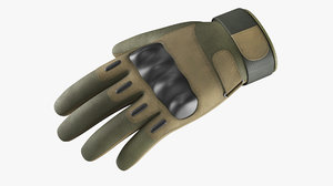3D gloves army model
