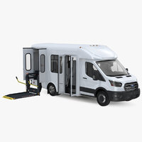 Ford Starlite Transit Shuttle Bus 2020 Rigged