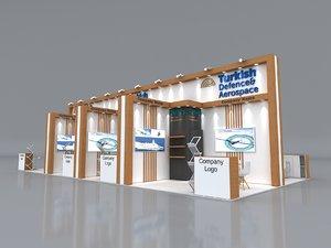 3D stall height 430 cm model