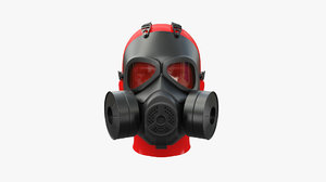 3D gas mask military model