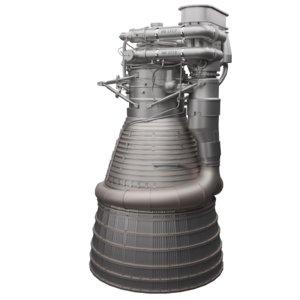 rocket engine f-1 3D model
