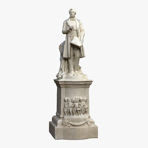 albert lortzing monument 3D model