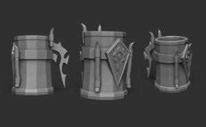 3D model printable mug world warcraft