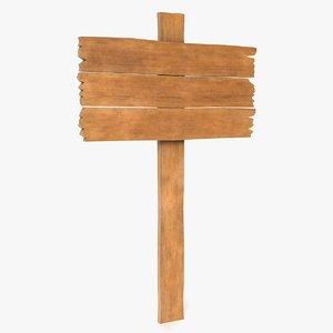 3D wood sign 1 model