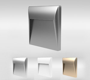 3D model light fixture wall