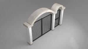 3D doors garage garden