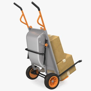 worx aerocart cart cardboard box 3D model