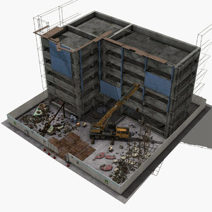 3D scene construction site model