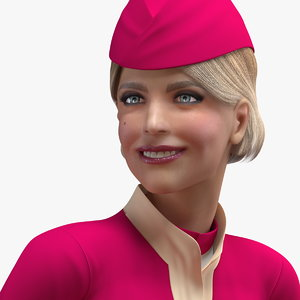 airline hostess maroon uniform model