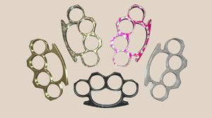 3D knuckle duster 5 color