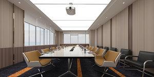 office meeting room interior 3D model