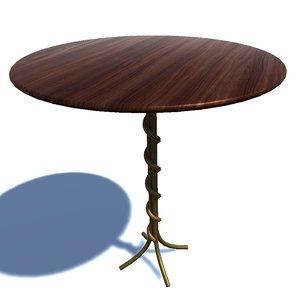 3D table 1 uvw model