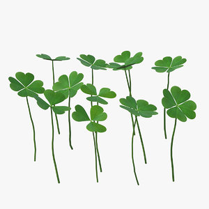 3D model green clover field