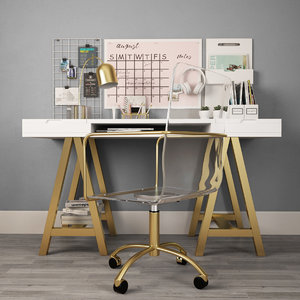 desktop desk 3D model