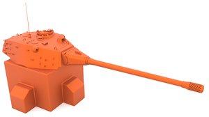 e-75 turret mk2 stl 3D model