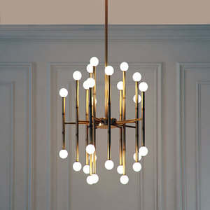 romatti meurice rectangular chandelier 3D model