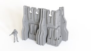 printed wall section tabletop model