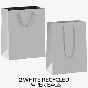 2 white recycled paper 3D model