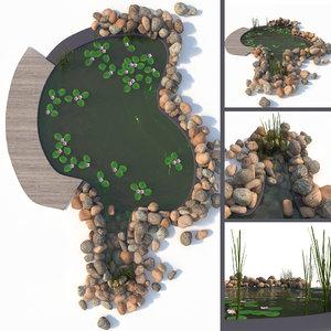 3D garden pond