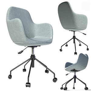chair fabric steel 3D model