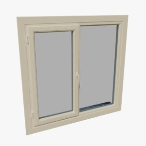 3D model pvc window open