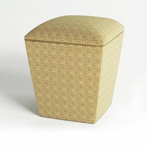 seat pouf ottoman 3D model