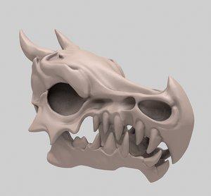 dragon skull cranium 3D model