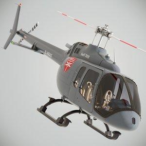 bell 505 jet ranger 3D model