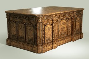 classical antique carved walnut 3D model