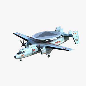 3D kj-600 awacs aircraft model