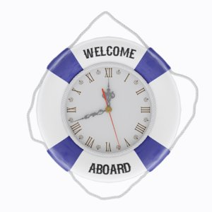 sea style wall clock 3D model