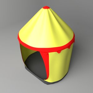 3D model cylinder tent
