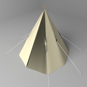 3D conical tent