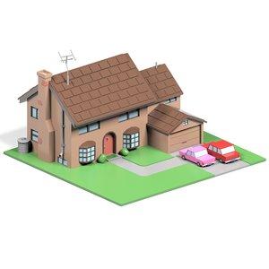 simpsons house 3D
