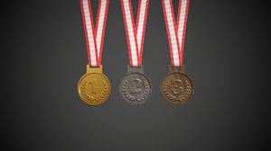 medal sport competition 3D model